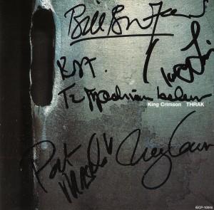 KING CRIMSON Pochette Autographes