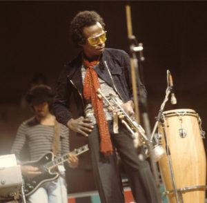 Reggie Lucas, guitare, Miles Davis, trompette. Photo : X/DR