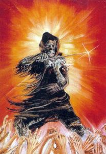 Illustration de Iain Lowe extraite du luxueux livret du premier Phenomena