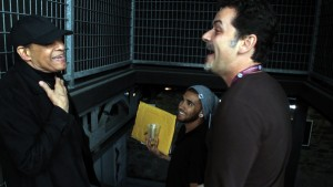 Al Jarreau face au réalisateur Thierry Guedj (à droite).