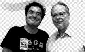 Paris, Olympia, 2 juillet 2009 : Fred Pallem et Walter Becker photographiés par Joachim Bertrand