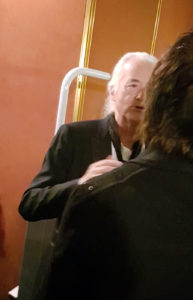 Jimmy Page et Jeff Beck en pleine discussion