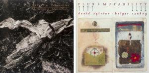Les pochettes originales des deux albums enregistrés par David Sylvian et Holger Czukay