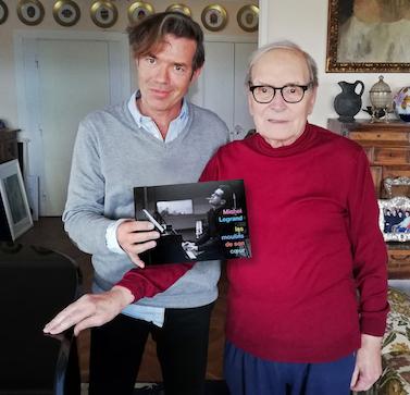 Stéphane Lerouge et Ennio Morricone, Rome, avril 2019 - © photo : Cécile Chéraqui
