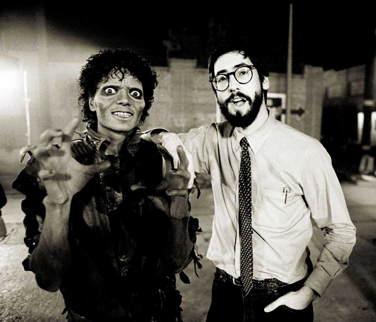 Michael-Jackson-and-John-Landis-on-the-set-of-the-Thriller-music-video